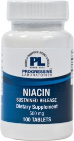 Progressive Labs Niacin 500mg Sustained Release 100 Count