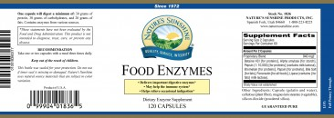 Food Enzymes 120 Count