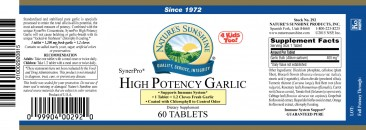 Garlic, High-Potency, SynerPro 60 Count