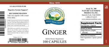 Ginger 100 Count