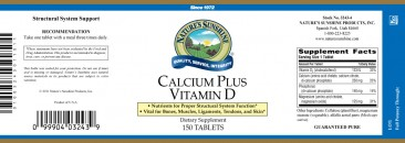 Calcium Plus Vitamin D 150 Count
